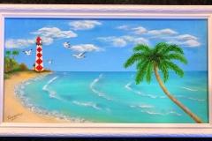 Tropical Beach Lighthouse